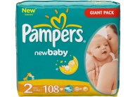 Pampers new baby plenky mini 2, 3-6 kg giant pack