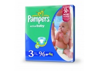 Pampers active baby 3 midi 4-9 kg 96 ks